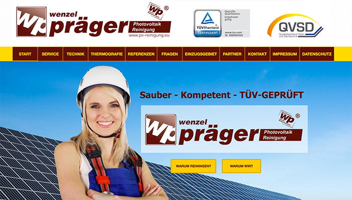 Pv Reinigung Webseiten erstellen Bautzen Webshop gestalten Görlitz
