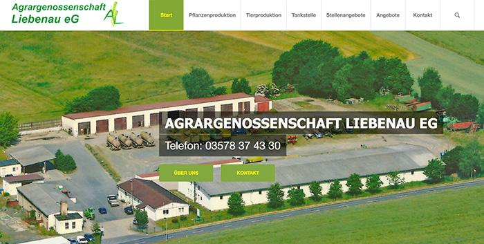 Agrargenossenschaft Liebenau Homepage erstellen Kamenz Pulsnitz Hompage gestalten