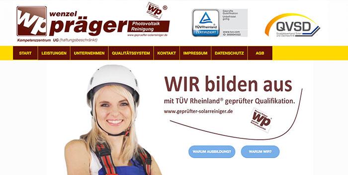 Geprüfter Solarreiniger Homepage erstellen Leipzig Webshop gestalten Chemnitz