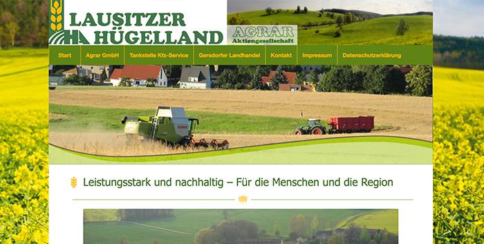 Lausitzer Hügelland AG Webseiten erstellen Kamenz Homepage gestalten Pulsnitz