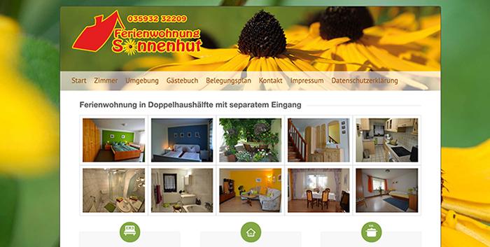 Ferienwohnung Sonnenhut Webseiten Homepage erstellen Bautzen